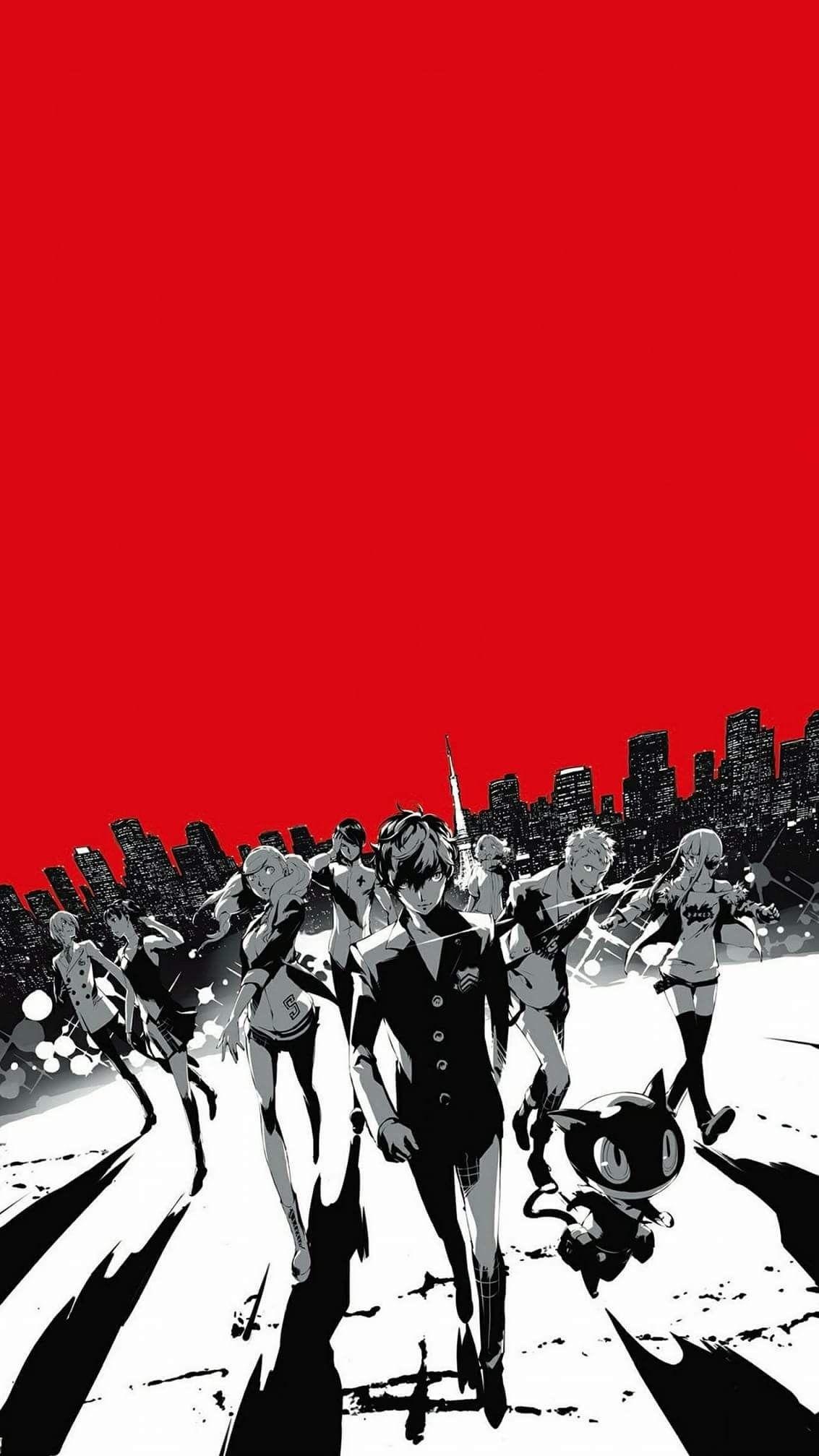 Persona 5 Image jeux video, Dessin manga, Arrière plan