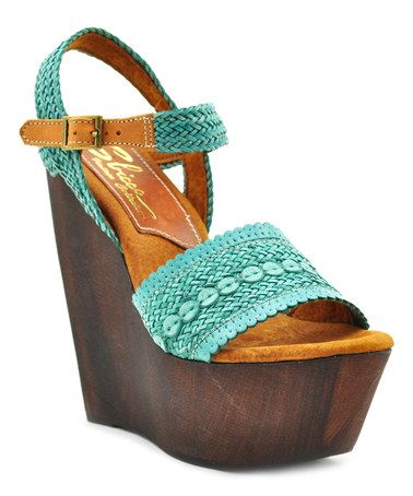 6785b382a65c Loving this Turquoise Lapalma Leather Sandal on  zulily!  zulilyfinds