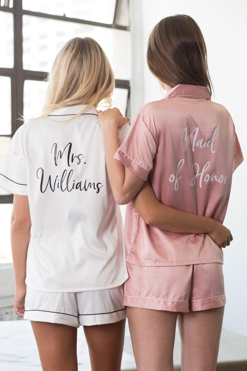 Personalized Pajamas, Pajama Set, Pajama Party, Bridal Pajamas, Monogrammed Pajama, Bride Gift, Bridal Bachelorette