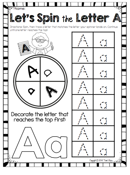 Let's Learn About the Letter A FREEBIE for letter A Bundle