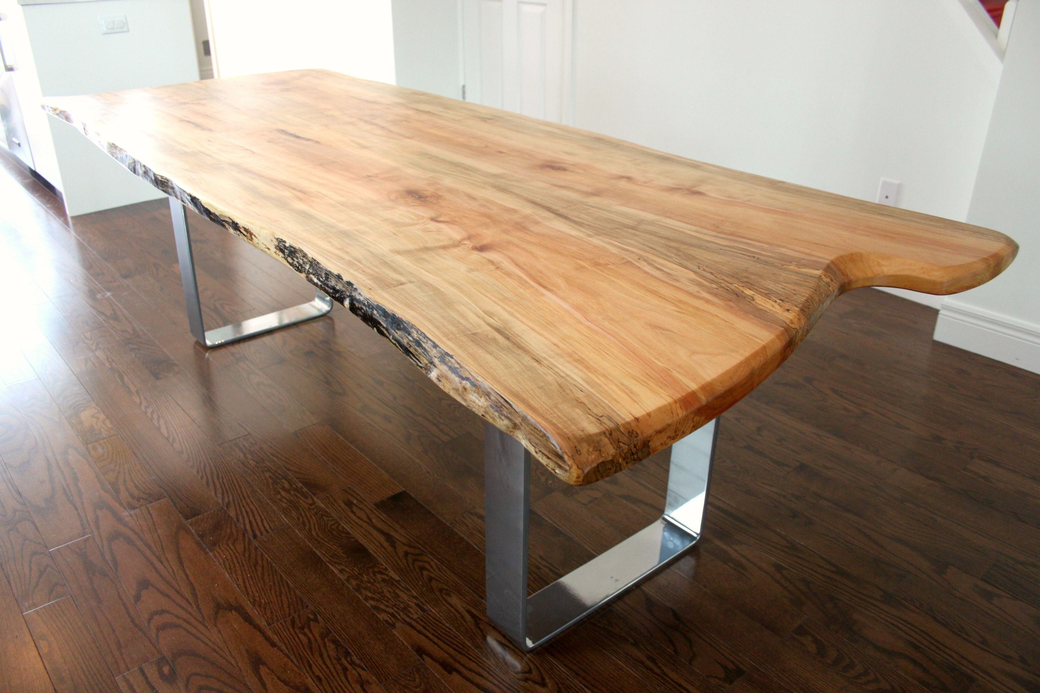 Live edge table home style pinterest live edge wood for Wood dining table decor