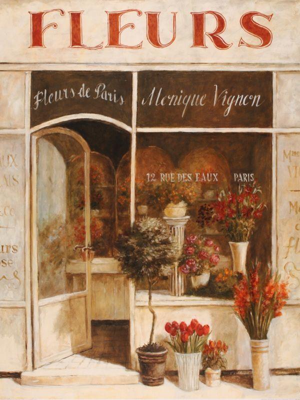 Fabrice de Villeneuve, 1954 ~ Vintage painter | Painting flowers