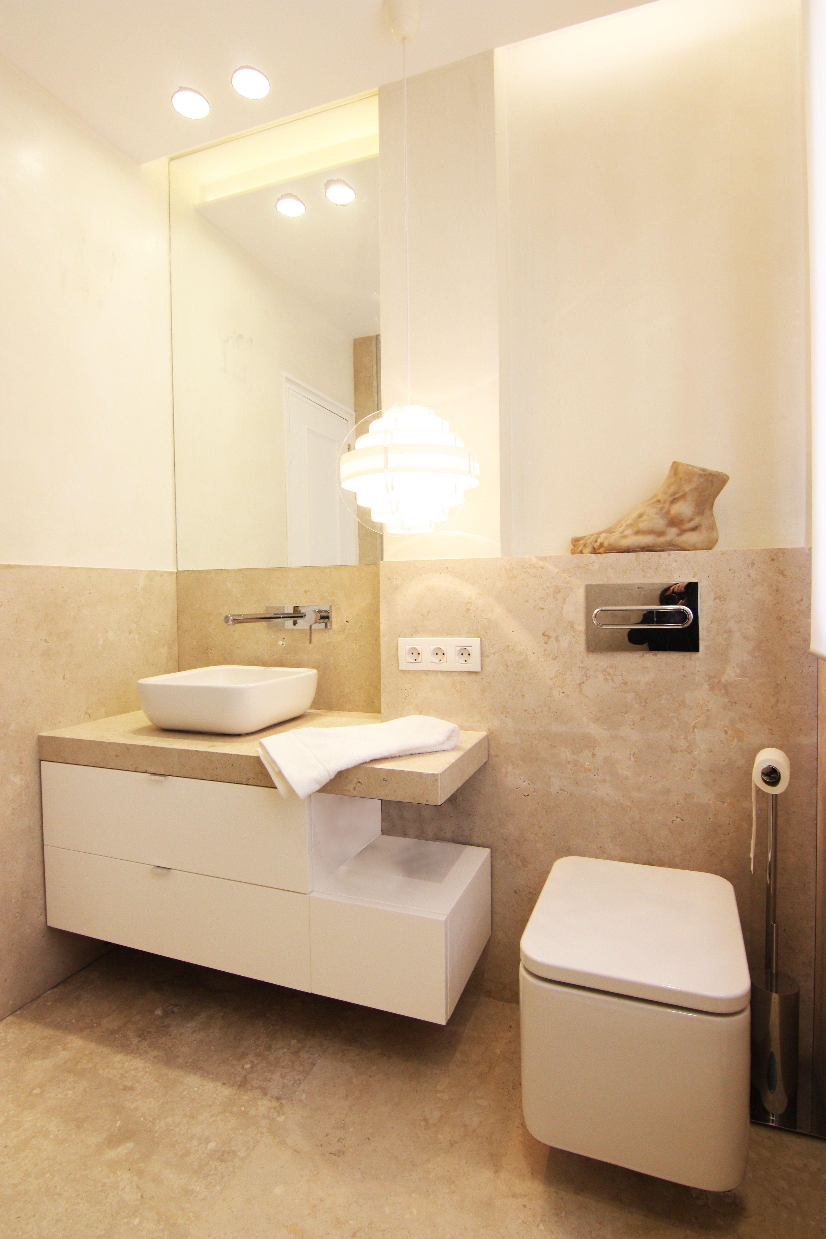Cuarto de ba o con piedra natural de campaspero dise o de Diseno de una habitacion con bano