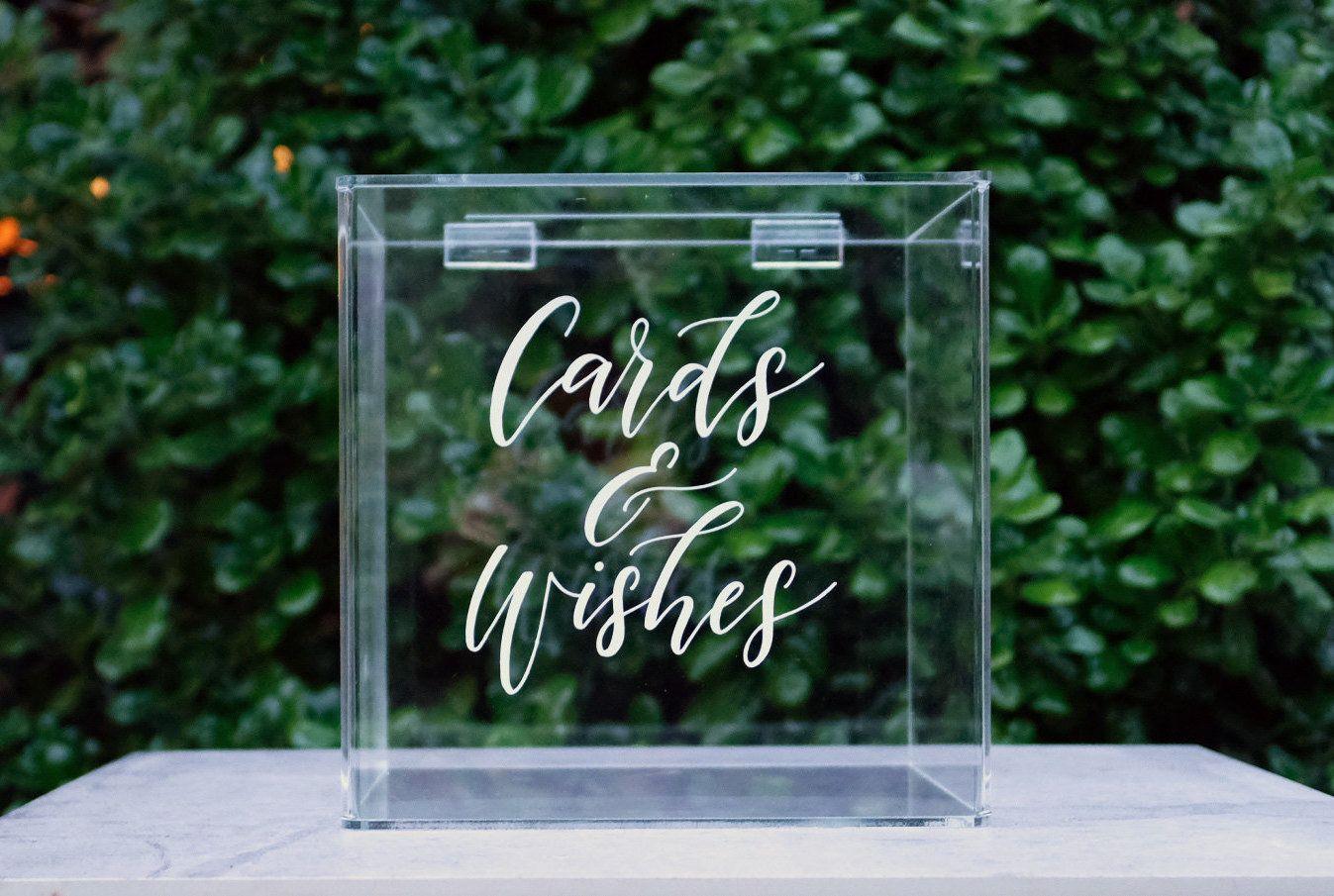 Monetary Wedding Gifts: Wishing Well Box, Acrylic Wedding Card Box, Wedding Card