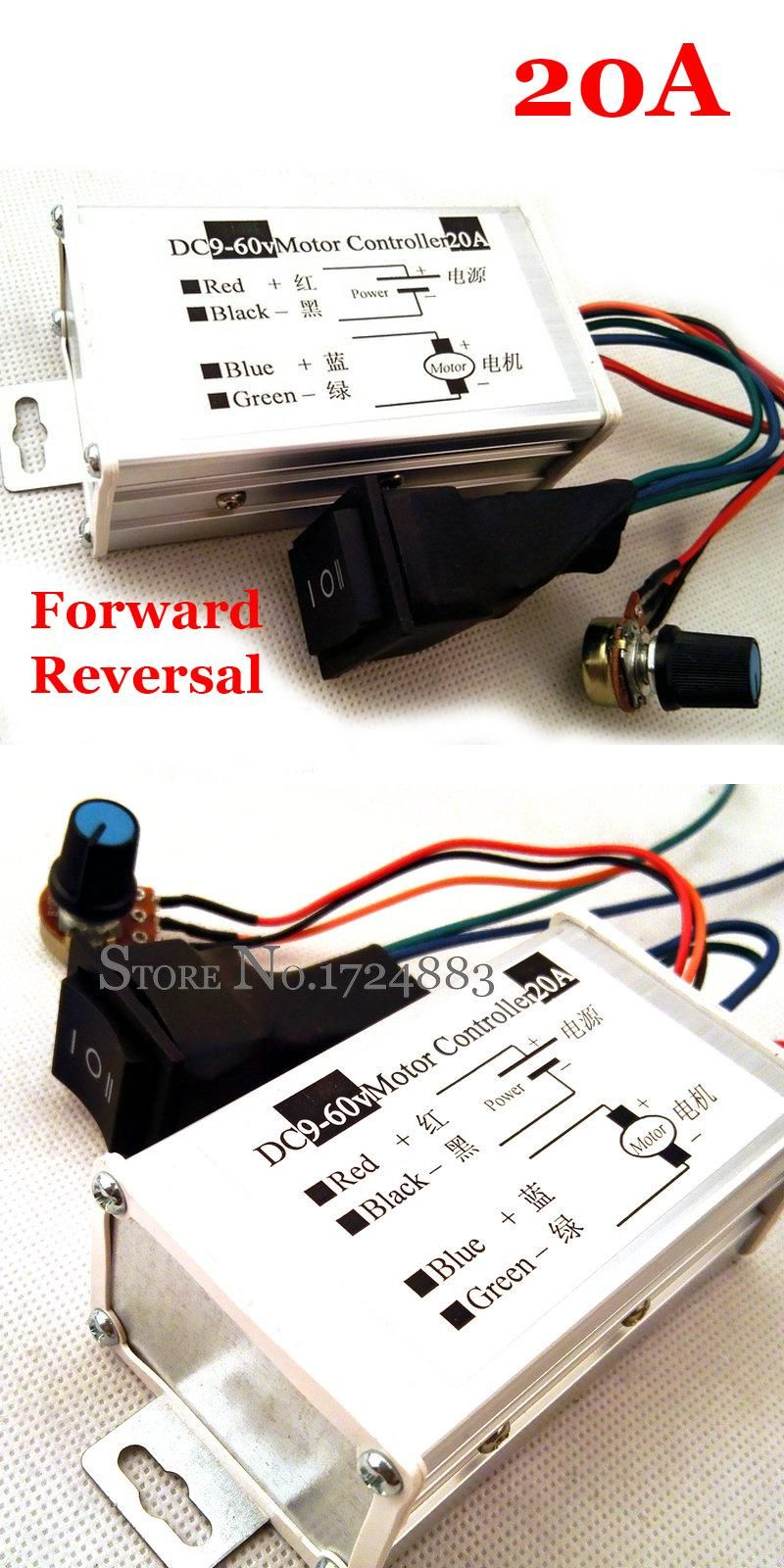 Visit To Buy 20a Dc Motor Variable Speed Reverse Switch Pulse Width Pwmmotorcontrollerwithforwardandreversejpg