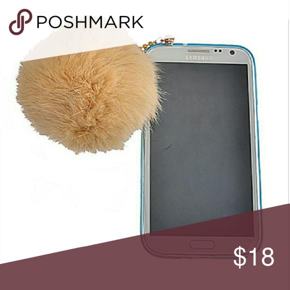 Phone plug Fur pom pom e?r plug for phone Accessories Phone Cases