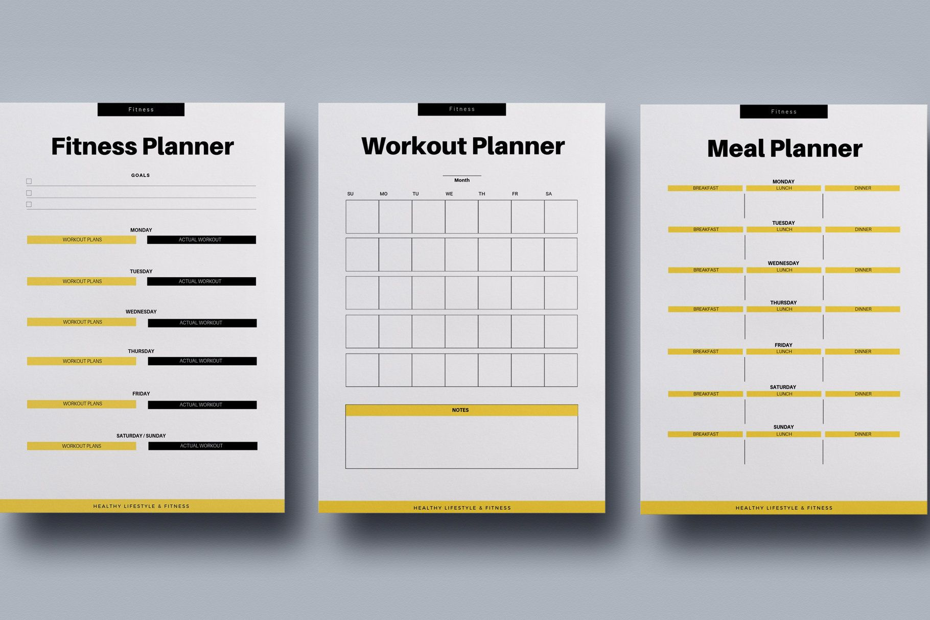 Fitness Planner Kit Canva Template