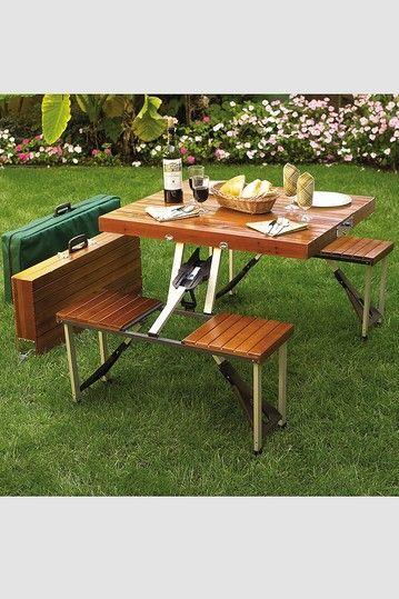Brown Portable Picnic Table Set & Brown Portable Picnic Table Set | products | Pinterest | Portable ...