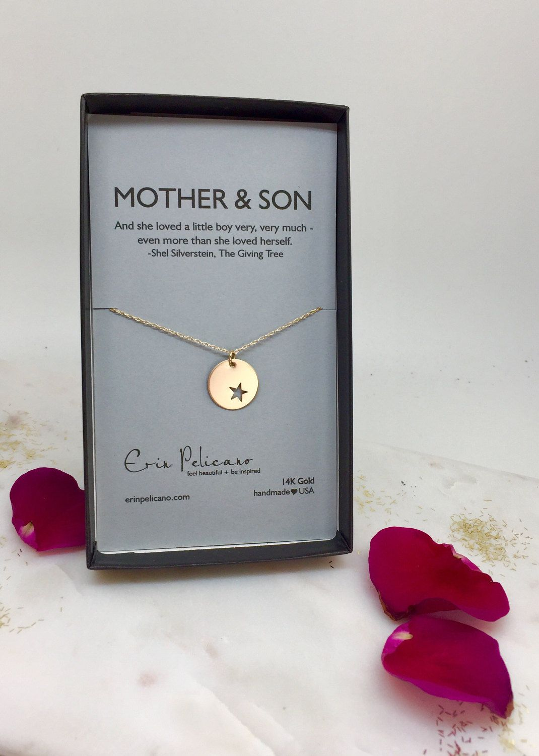 Mom Necklace From Son Luxury Gold Jewelry Birthday Gift For Her Mother Of Groom New By Erinpelicano On