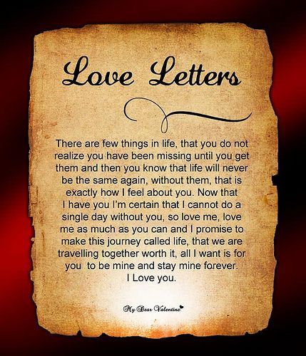 Romantic Love Letters For Him    Romantic Relationships And Poem