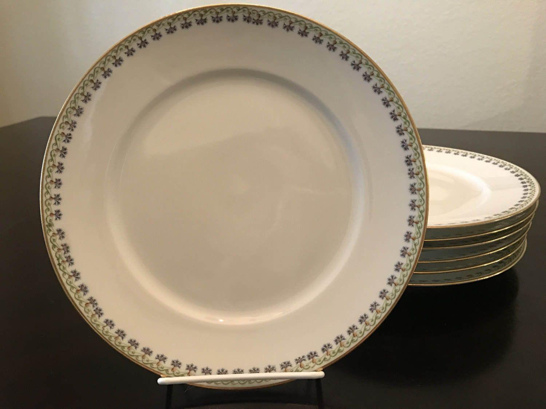 C.H. Field Haviland Limoges GDA France Art Deco Dinner/Luncheon Plates Set of Seven & C.H. Field Haviland Limoges GDA France Art Deco Dinner/Luncheon ...