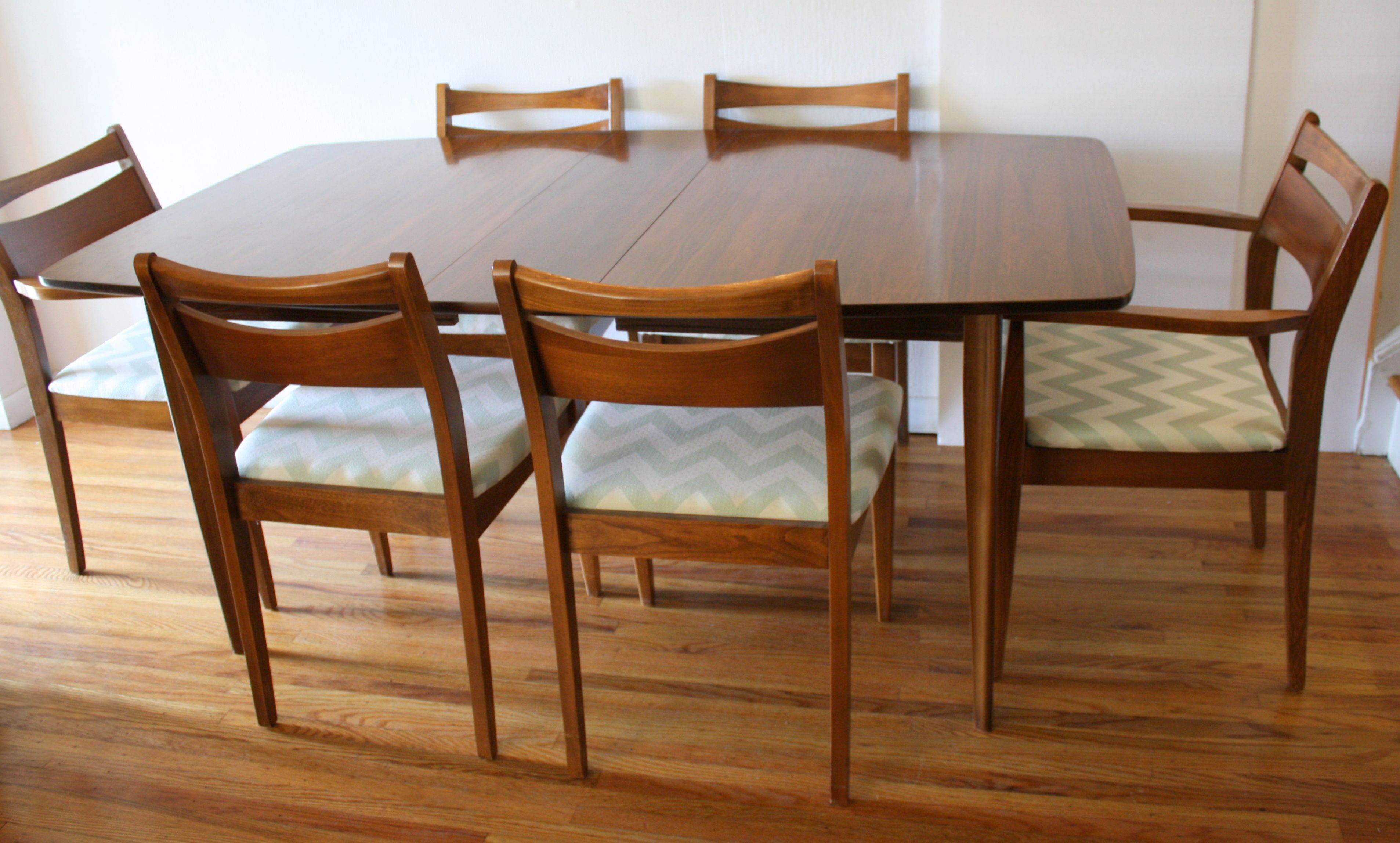 modern dining room chairs cheap | Mid century modern dining chair set of 6, upholstered in ...
