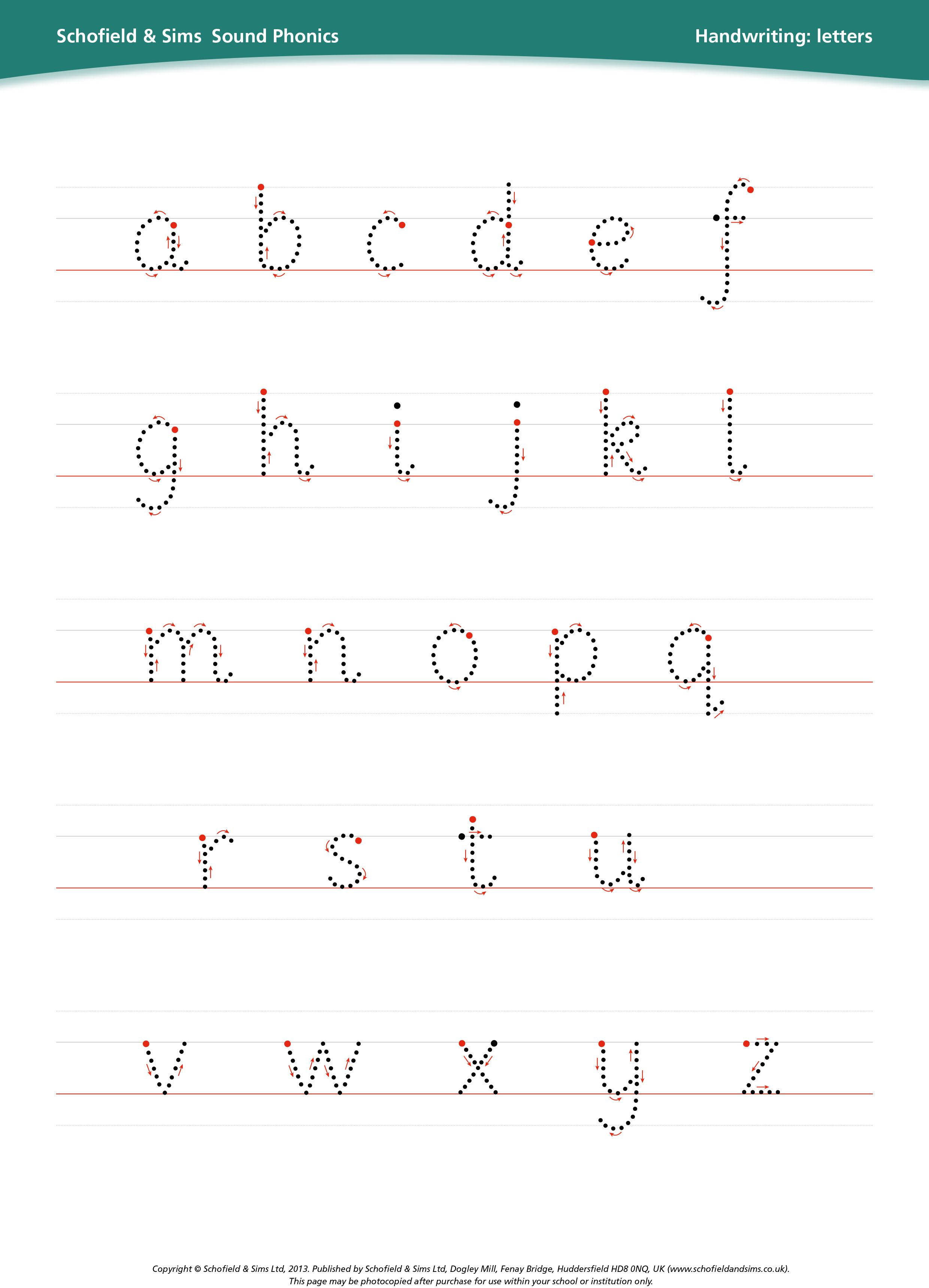 Handwriting Letters To Teach Children How To Form Letters