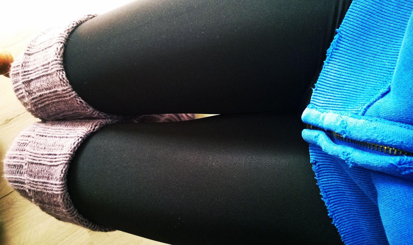 Black Leggings Leg Warmers