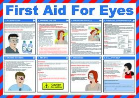 First Aid & Treatment Posters - Eye Care Poster - Safety first aid guidance posters can help to raise safety awareness throughout your organisation. #firstaid