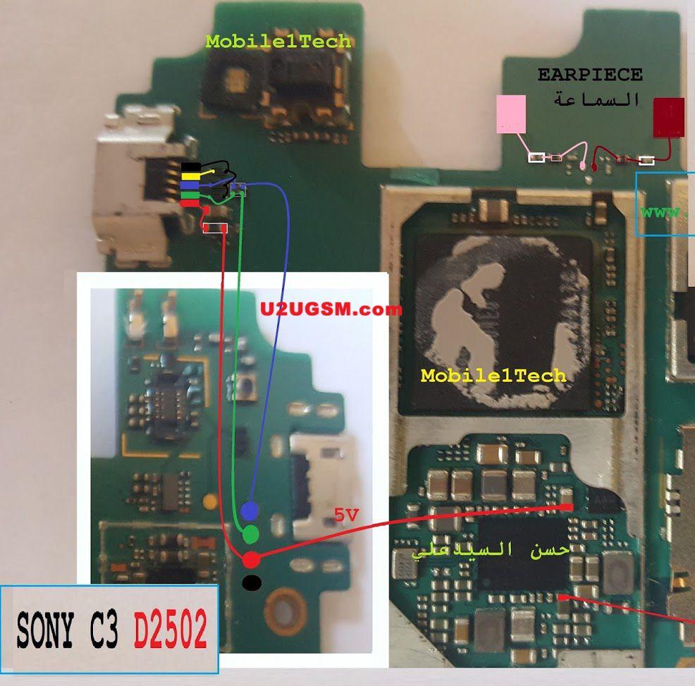 Sony Xperia C3 D2502 Charging Problem Solution Jumper Ways