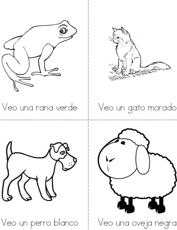 Oso pardo, oso pardo, que ves ahi? Mini Book - Sheet 2 | Toddler ...