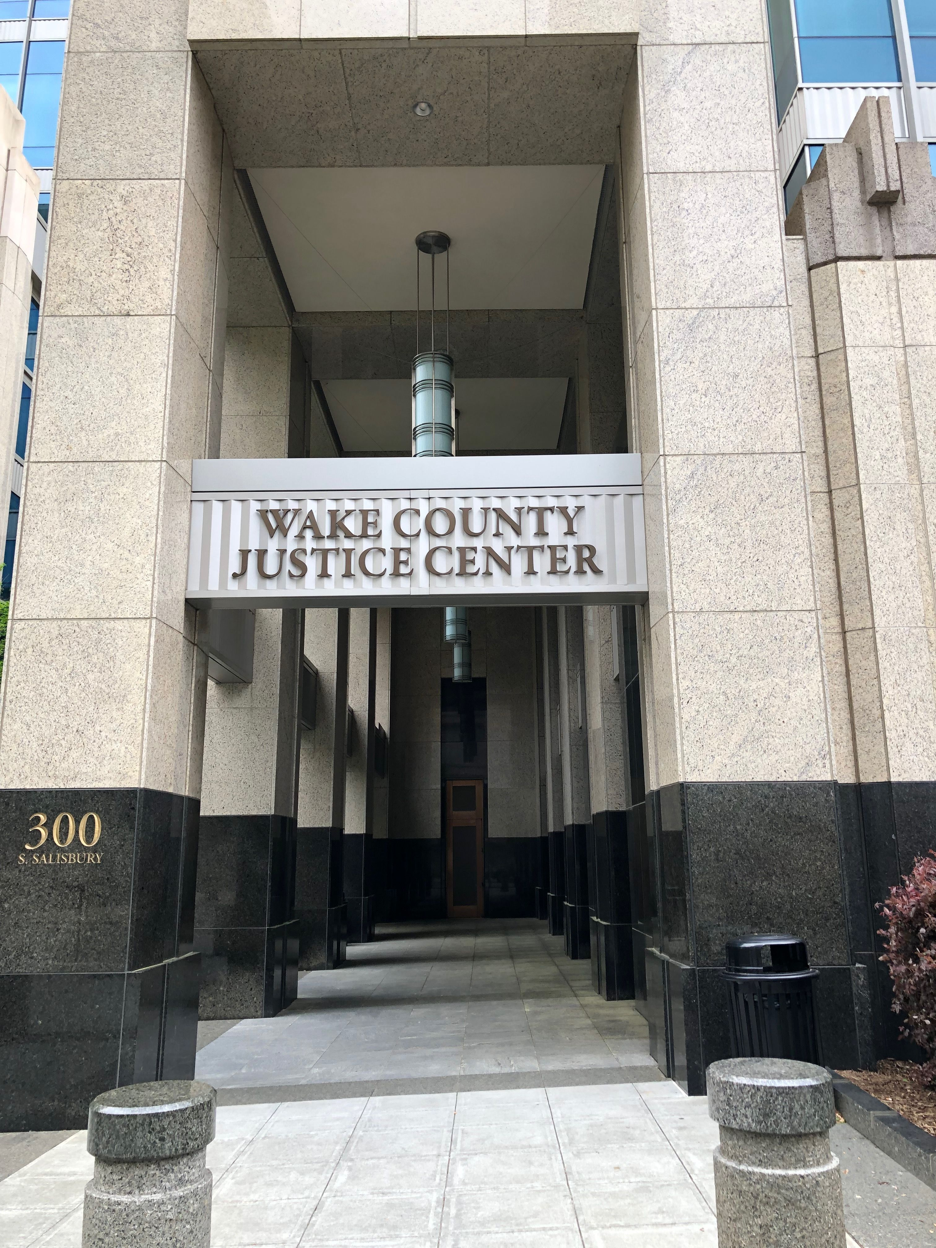 Entryway Of Wake County Justice Center In Raleigh North Carolina Paul Chandler April 2019 Wake County Warren County North Carolina