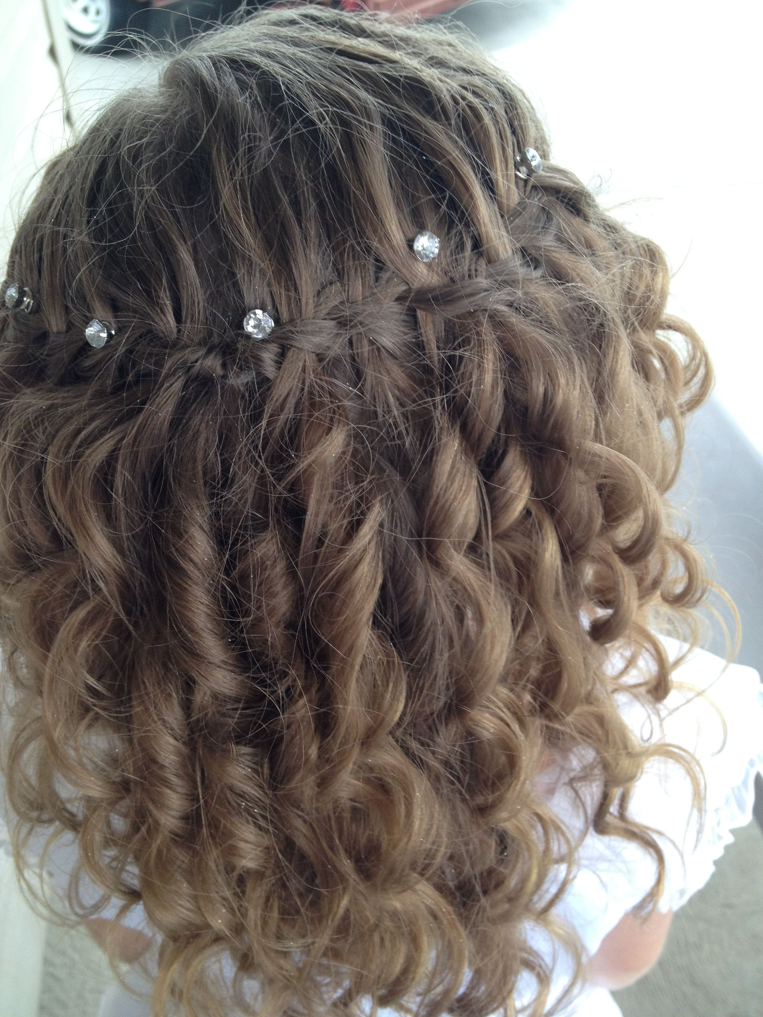 Flower Girl Hairstyle Curlformer Curls With A Waterfall