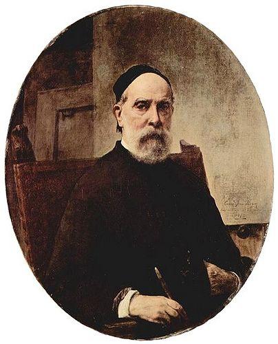 Hayez, Francesco (1791-1882) - 1879 Self-Portrait at Age 88 (Galleria d'Arte Moderna, Venice, Italy)