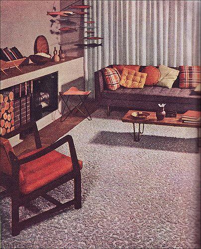 1952 Mid Century Modern Living Room | Flickr - Photo Sharing!