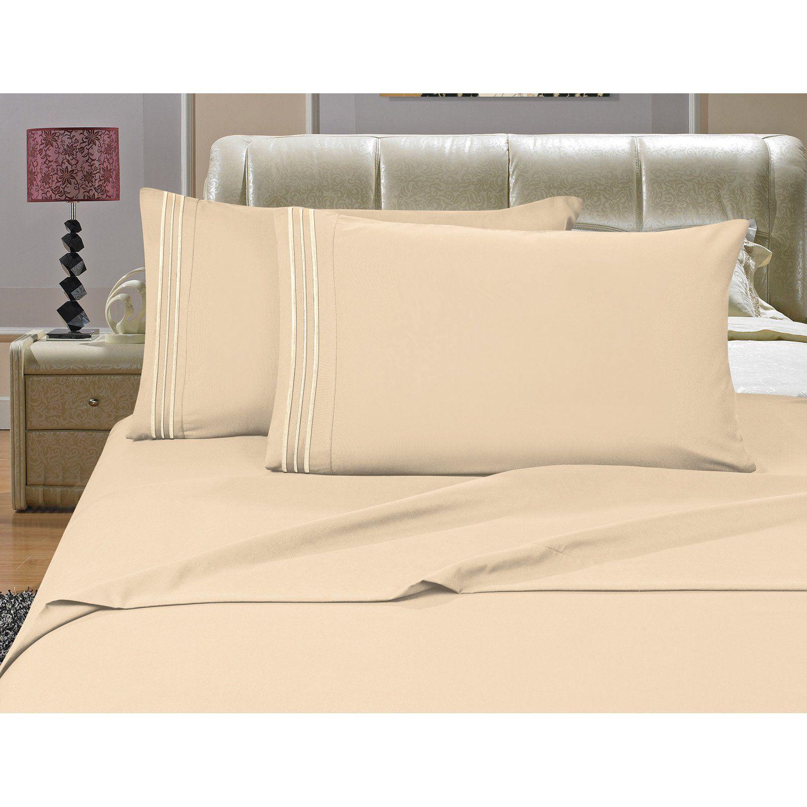 1500 Thread Count Deep Pocket Sheet Set by Elegant Comfort