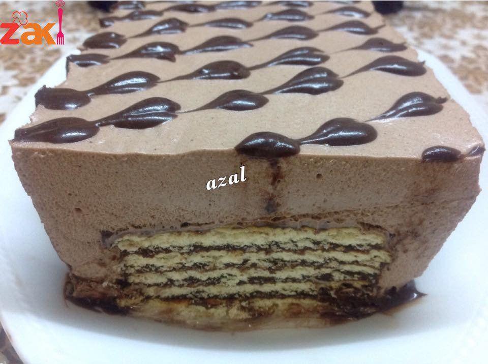حلى البسكوت اللي بتحب الحلويات الباردة السريعة تيجي هون زاكي Cold Cake Food Desserts