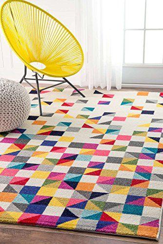 Modern Rug Colorful Multi Mosaic Design Rugs Living Room Triangle Rug Mosaic Rugs Geometric Rug
