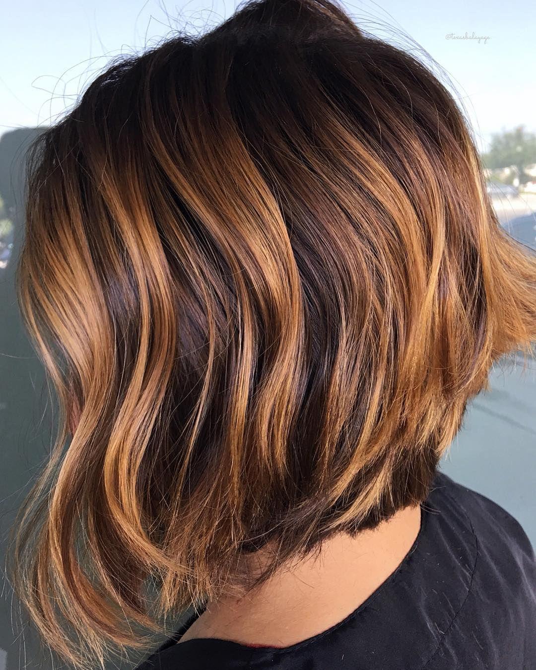 Hair Ombre Copper Caramel 31 Ideas Short Ombre Hair Short Hair Balayage Balayage Hair