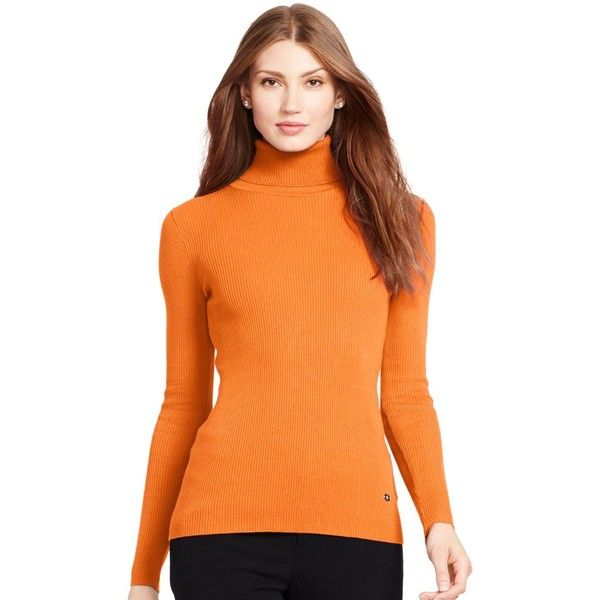 Lauren Ralph Lauren Ribbed Turtleneck Sweater (300 SEK) ❤ liked ...