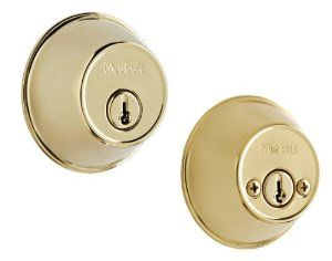 Weslock National Deadbolt With 5 Pin Cylinder By Weslock National 5 99 Adjustable Latches 2 3 8 Or 2 3 4 With Removable Faceplates Fits Doors P