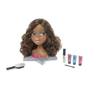 Bratz Doll Head Sasha Funky Fashion Style Makeover Hair Mannequin