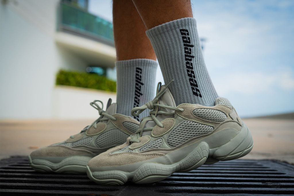 An On Foot Look At The Adidas Yeezy 500 Salt Yeezy 500 Yeezy Adidas White Shoes