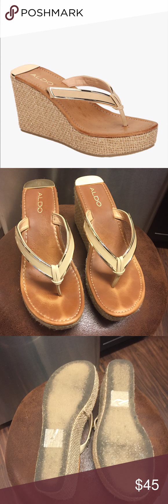 0f35f77343 Aldo Jeroasien wedge sandal Like new, Aldo wedge sandal, slight wear, worn  once! Approx 4