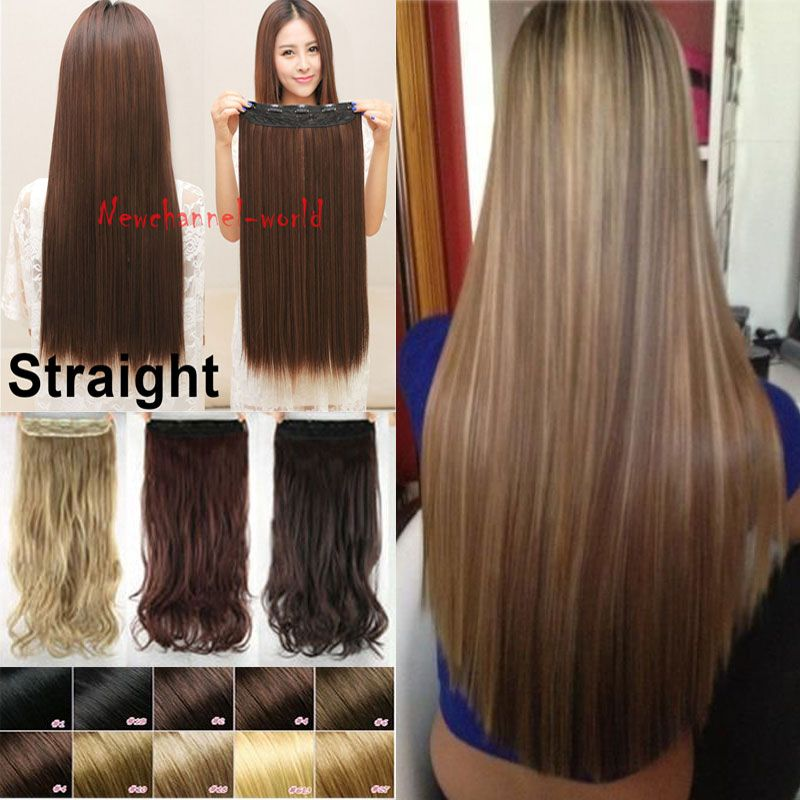 Free Shipping Real Thick 30 Inch One Piece Clip In Hair Extensions