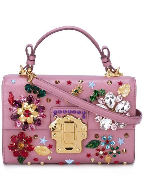 Dolce & Gabbana Lucia Snake Roses Shoulder Bag d6YzUoD7