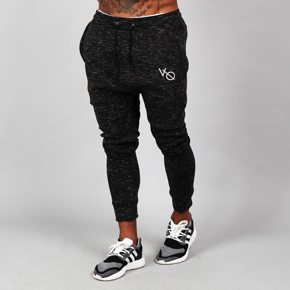 7687cd692 Vanquish Fitness Ultra Flux Tapered Sweatpants in Marbled Black ...