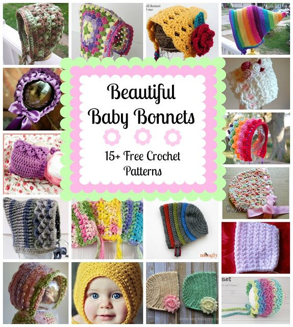 Beautiful Baby Bonnets, roundup on Fiber Flux | BEANIES &HATS ...