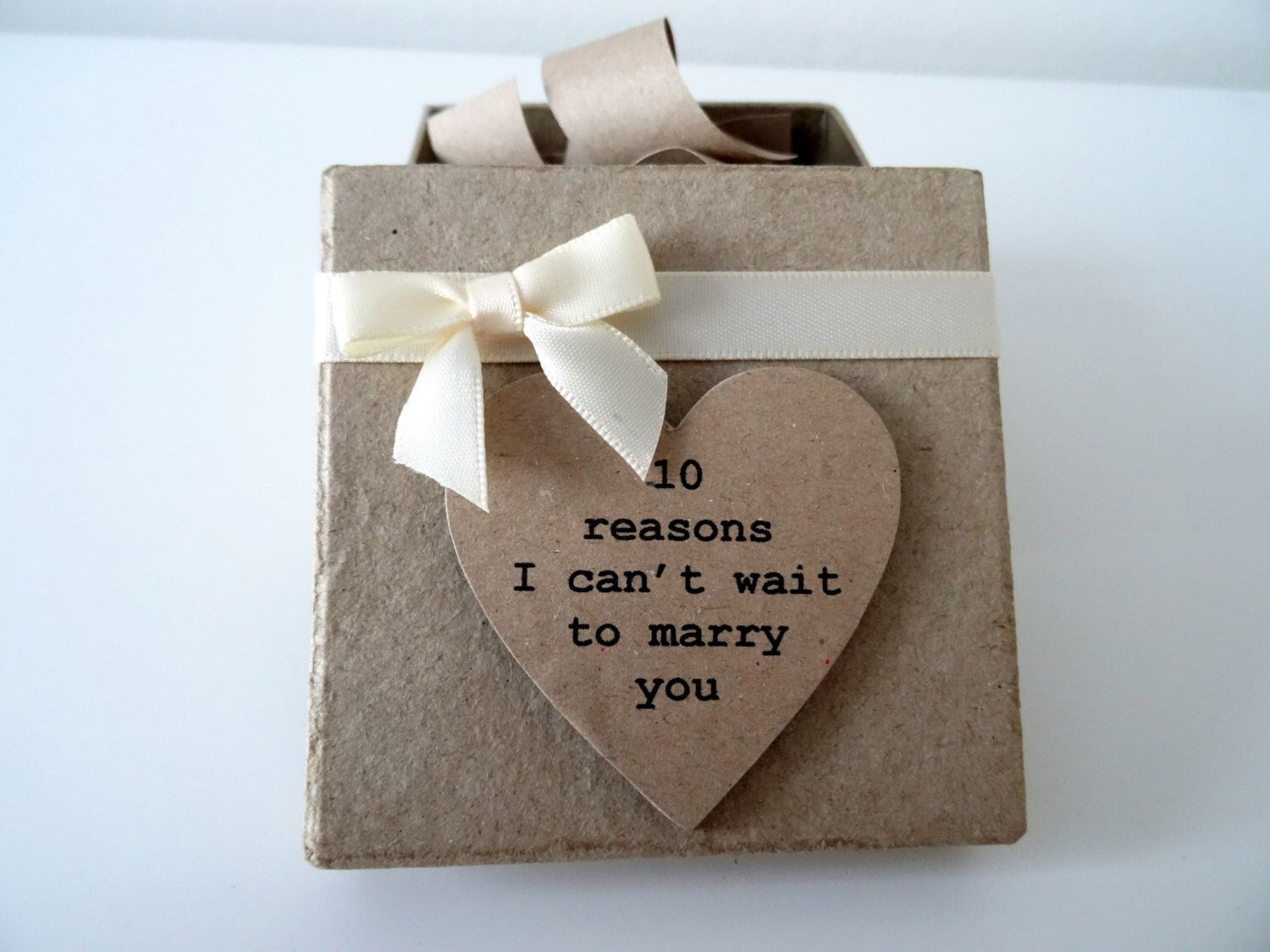 10 Reasons I Cant Wait To Marry You Box. Bride To Groom