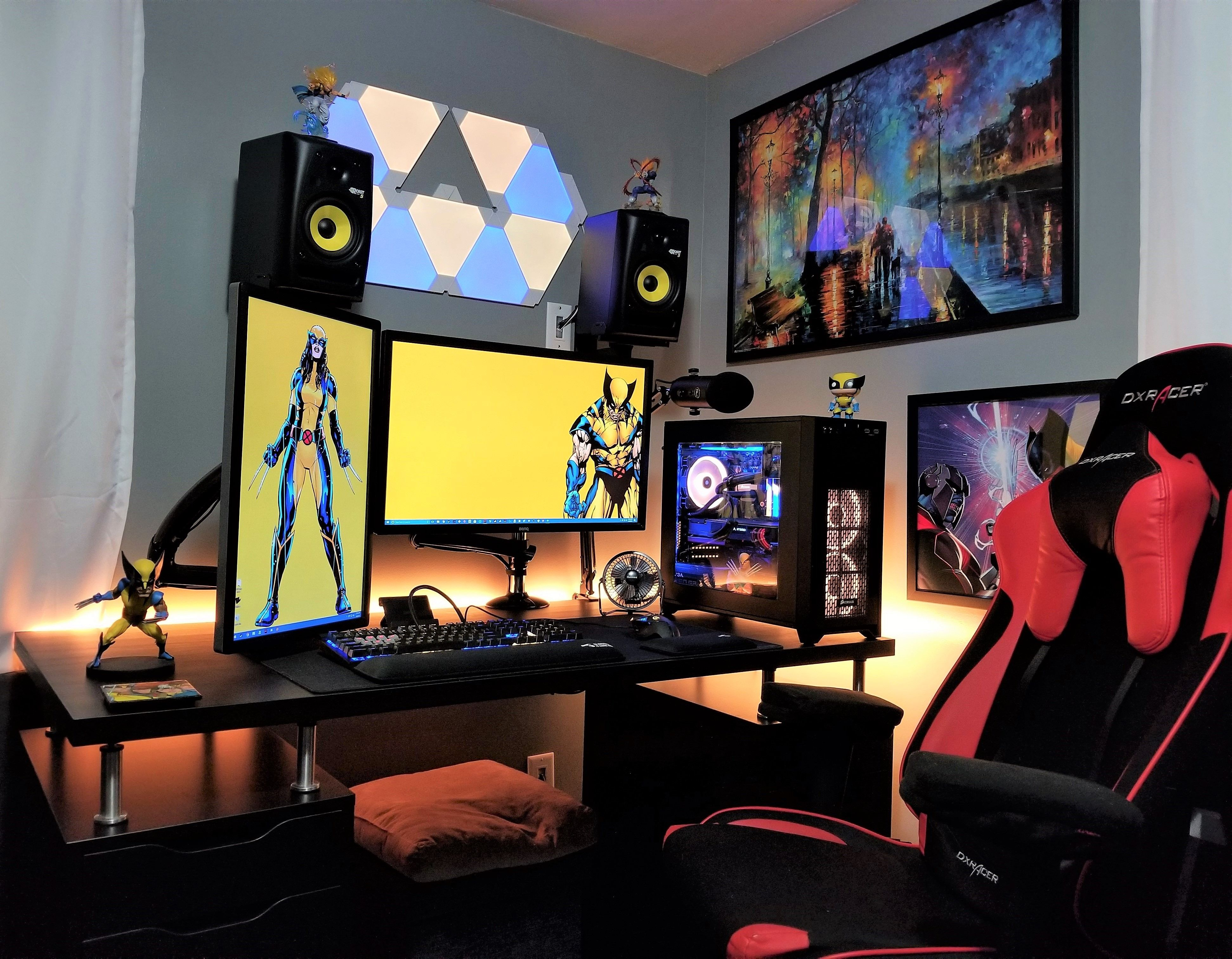 A Different Color Scheme And A Lot Of Influence From This Community Best Computer Chairs Bedroom Colors Gaming Room Setup
