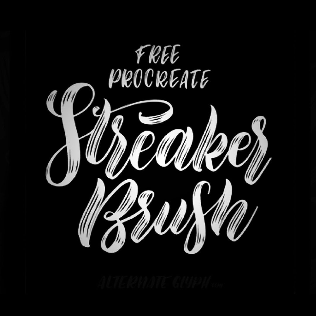 Free procreate brush streaker brush for procreate a