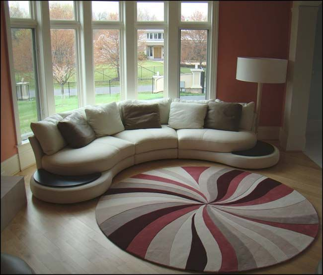 round living room arrangement | the living room is the main room to ...