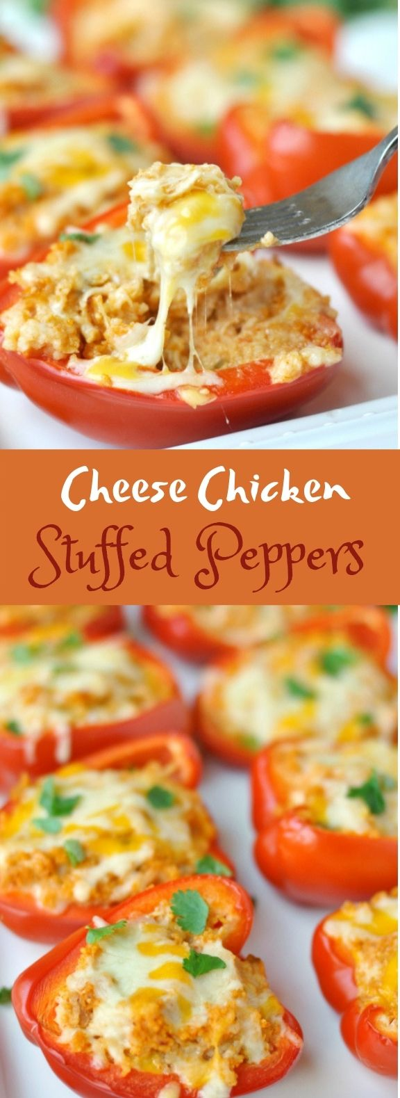 Cheesy Chicken Stuffed Peppers Healthy Lowcarb Stuffed Peppers Recipes Chicken Stuffed Peppers