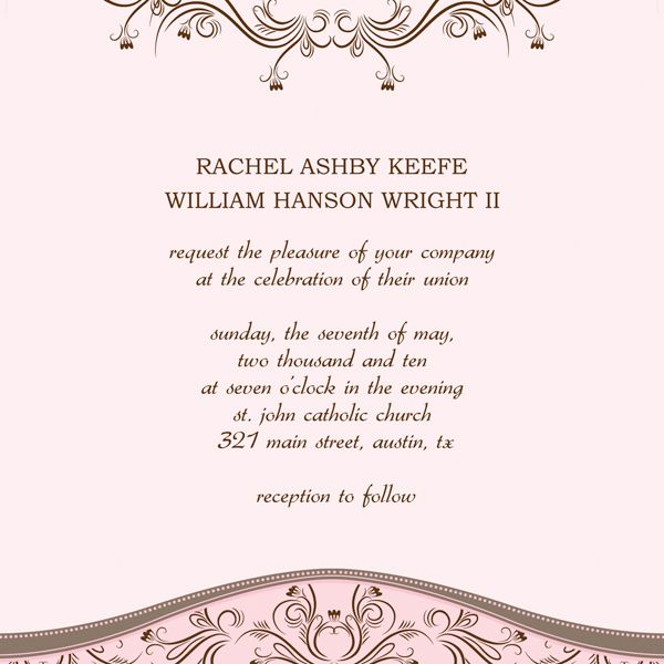 30 Free Wedding Invitations Templates Tea length wedding dress
