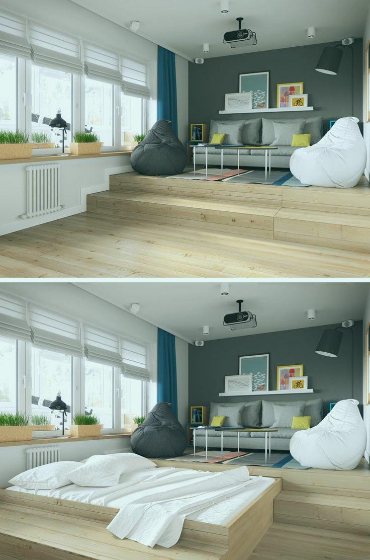 Bett Im Wohnzimmer Verstecken Wunderschönen Die Besten 20 Bett Im