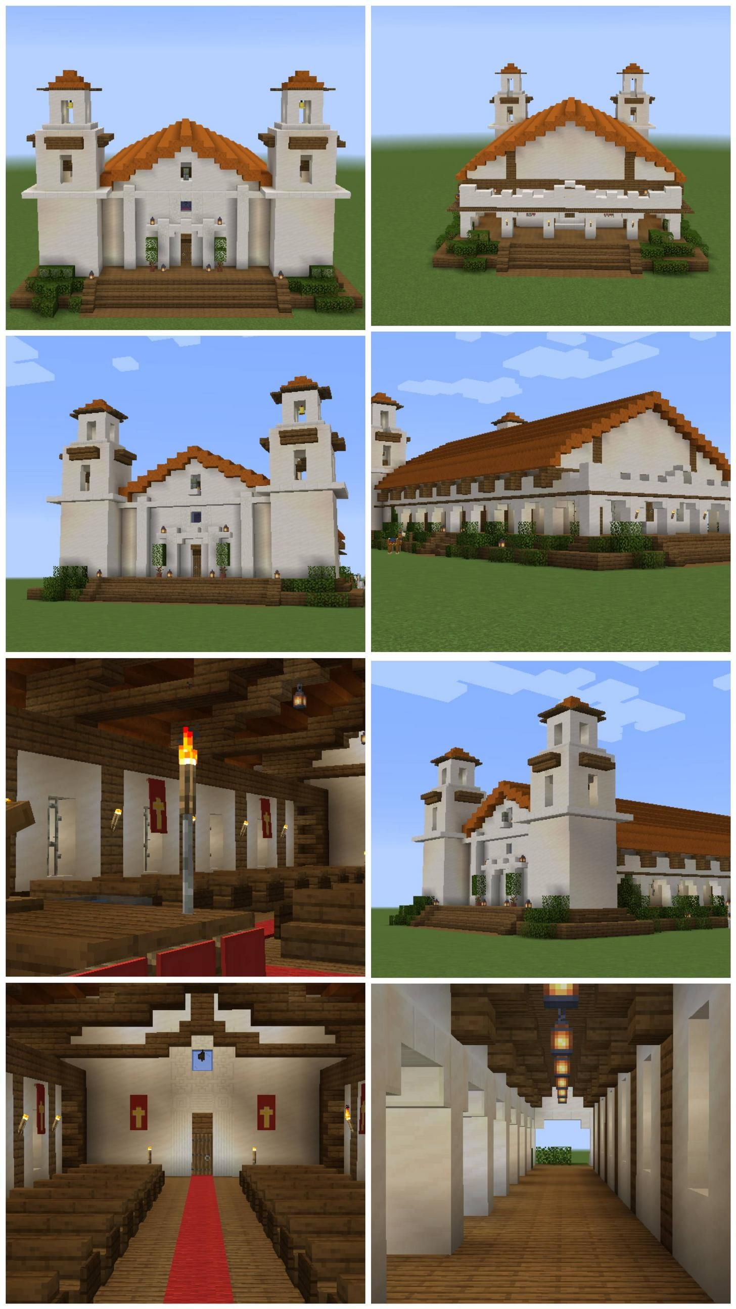 Spanish Villa Minecraft : spanish, villa, minecraft, Spanish, Mission, Built., Minecraft, House, Plans,, Stables,, Houses