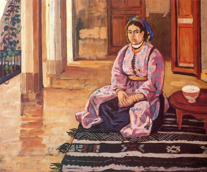 «Marocaine assise», Azouaou Mammeri