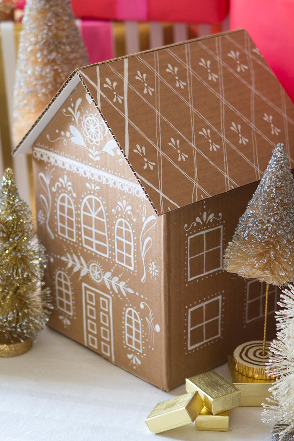 Diy Gingerbread House Gift Boxes Geschenk Haus Diy Ideen
