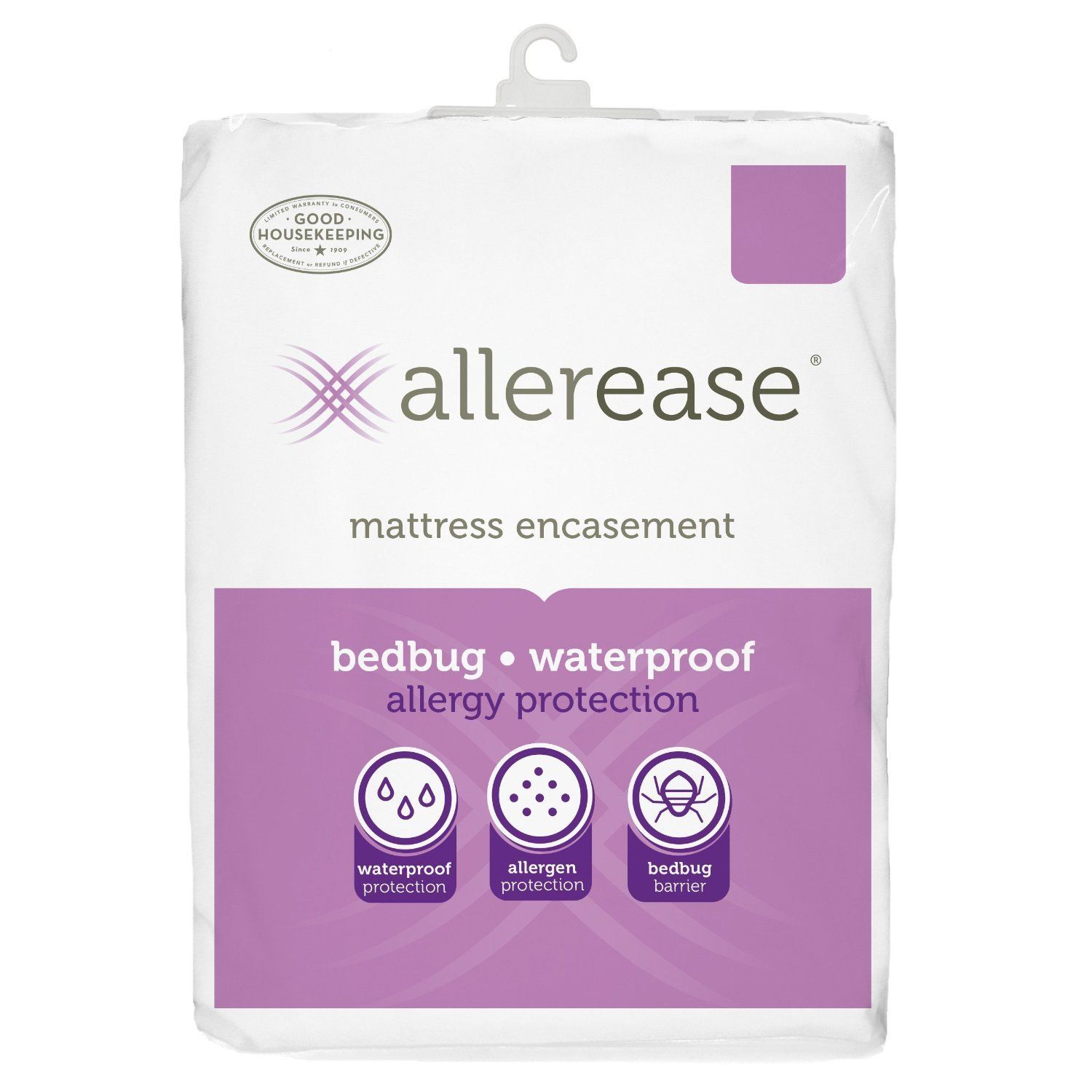 AllerEase Mattress Protector Cover White