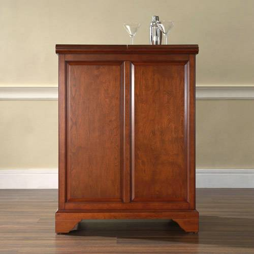 bayden hill lafayette expandable bar cabinet in classic cherry finish armoires diy armoire de refrigerateur